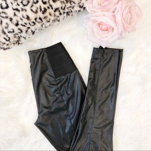 Dynamite Faux Leather Legging with Side Detail S
